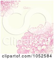 Royalty Free Vector Clip Art Illustration Of A Pink Lilac Flower And Beige Floral Invitation Background 2
