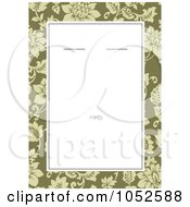 Royalty Free Vector Clip Art Illustration Of A Green Floral Invitation Design With White Copyspace