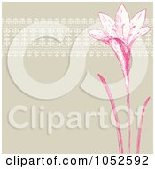 Royalty Free Vector Clip Art Illustration Of A Pink And Tan Lily Invitation Background