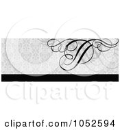 Royalty Free Vector Clip Art Illustration Of A Gray And Black Swirl Website Border