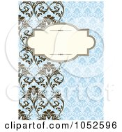 Royalty Free Vector Clip Art Illustration Of A Blue Floral Invitation Background 2