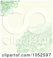 Royalty Free Vector Clip Art Illustration Of A Green Lilac Flowers Invitation Background