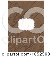 Royalty Free Vector Clip Art Illustration Of A Wooden Invitation Background With Copyspace 3