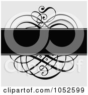 Royalty Free Vector Clip Art Illustration Of A Gray And Black Swirl Invitation Background 1