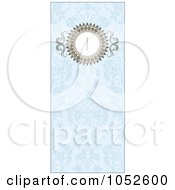 Royalty Free Vector Clip Art Illustration Of A Blue Floral Invitation Background 6