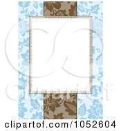 Royalty Free Vector Clip Art Illustration Of A Blue Floral Invitation Background 4