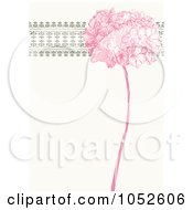 Pink Lilac Flower And Ornate Trim Floral Invitation Background - 3