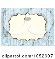 Royalty Free Vector Clip Art Illustration Of A Blue Invitation Background With A Beige Text Box 10