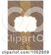 Royalty Free Vector Clip Art Illustration Of A Wooden Invitation Background With Copyspace 2