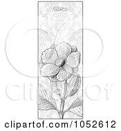 Royalty Free Vector Clip Art Illustration Of A Vertical Gray Wild Rose Flower Invitation