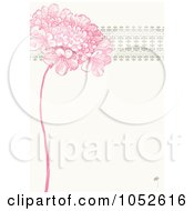 Royalty Free Vector Clip Art Illustration Of A Pink Lilac Flower And Ornate Trim Floral Invitation Background 1