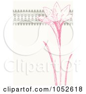Royalty Free Vector Clip Art Illustration Of A Pink And Beige Lily Invitation Background