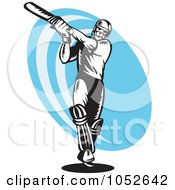 Royalty Free Vector Clip Art Illustration Of A Cricket Batsman Logo 6 by patrimonio