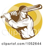 Cricket Batsman Logo - 3