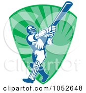 Cricket Batsman Logo - 12