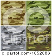 Digital Collage Of Brown Green And Gray Camouflage Backgrounds