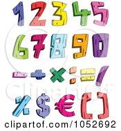 Royalty Free 3d Vector Clip Art Illustration Of A Digital Collage Of Colorful 3d Wood Numbers