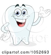 Royalty Free Vector Clip Art Illustration Of A Friendly Tooth Character Presenting by yayayoyo