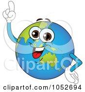 Royalty Free Vector Clip Art Illustration Of A Smart Australian Globe With An Idea by yayayoyo