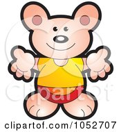 Royalty Free Vector Clip Art Illustration Of A Bear Holding His Arms Open