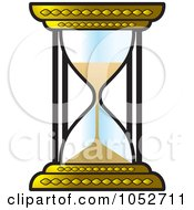 Royalty Free Vector Clip Art Illustration Of A Gold Hourglass by Lal Perera