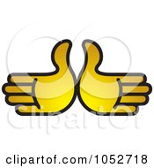 Royalty Free Vector Clip Art Illustration Of Two Gold Hands