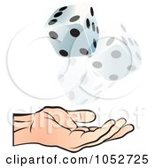 Royalty Free Vector Clip Art Illustration Of A Hand Tossing Dice