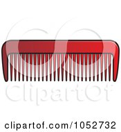 Royalty Free Vector Clip Art Illustration Of A Red Comb by Lal Perera
