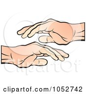 Royalty Free Vector Clip Art Illustration Of A Hand Over Another Hand