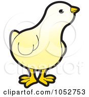 Royalty Free Vector Clip Art Illustration Of A Yellow Chick by Lal Perera