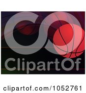Royalty Free Vector Clip Art Illustration Of A Bouncing Basketball Background On Black by elaineitalia