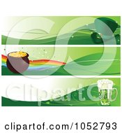 Royalty Free Vector Clip Art Illustration Of A Digital Collage Of St Patricks Day Banners by Pushkin