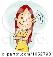 Royalty Free Vector Clip Art Illustration Of A Woman Eavesdropping On Gossip