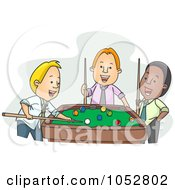 Royalty Free Vector Clip Art Illustration Of Businessmen Playing Pool After Work by BNP Design Studio