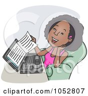 Black Woman Reading An Ebook