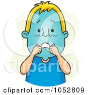 Royalty Free Vector Clip Art Illustration Of A Man Turning Blue In The Face