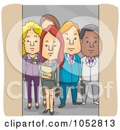 Royalty Free Vector Clip Art Illustration Of Business People In An Elevator by BNP Design Studio