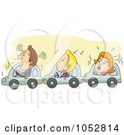 Royalty Free Vector Clip Art Illustration Of Angry Drivers Stuck In Traffic