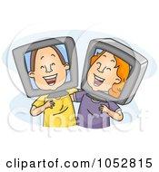 Royalty Free Vector Clip Art Illustration Of Old Internet Friends