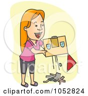 Royalty Free Vector Clip Art Illustration Of A Woman Cleaning House