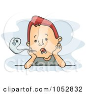 Royalty Free Vector Clip Art Illustration Of A Lifeless Man