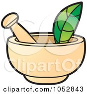Royalty Free Vector Clip Art Illustration Of A Mortar And Pestle 2 by Lal Perera