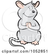 Royalty Free Vector Clip Art Illustration Of A Begging Mouse 2