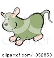Royalty Free Vector Clip Art Illustration Of A Chubby Mouse 2 by Lal Perera