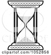 Royalty Free Vector Clip Art Illustration Of A Black And White Hourglass by Lal Perera