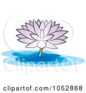 Royalty Free Vector Clip Art Illustration Of A Purple Water Lily