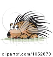 Royalty Free Vector Clip Art Illustration Of A Cute Porcupine by Lal Perera