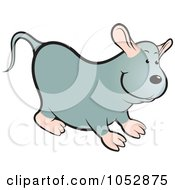 Royalty Free Vector Clip Art Illustration Of A Chubby Mouse 1 by Lal Perera