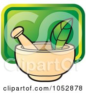 Royalty Free Vector Clip Art Illustration Of A Mortar And Pestle 3 by Lal Perera