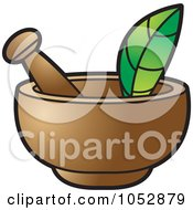 Royalty Free Vector Clip Art Illustration Of A Mortar And Pestle 1 by Lal Perera